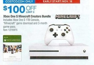 Xbox One S Minecraft Creators Bundle