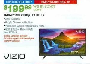 Vizio 40 Class 1080p LED LCD TV