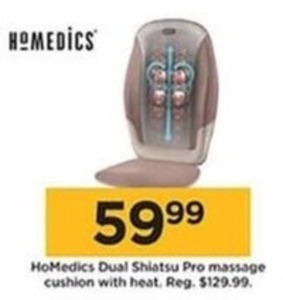 HoMedics Dual Shiatsu Pro Massage Cushion w/ Heat
