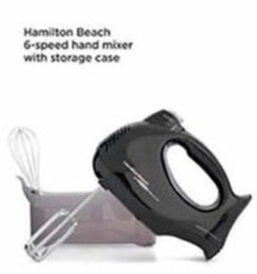 Hamilton Beach 6 Speed Hand Mixer With Storage Case