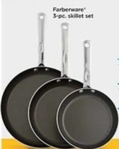 Farberware 3-PC Skillet Set (With Rebate)