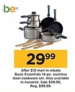 Basic Essentials 14 Piece Stainless Steel Cookware