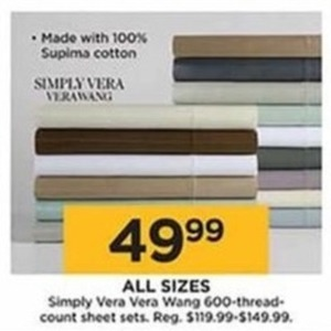 Simply Vera VeraWang 600-Thread-Count Sheet Sets