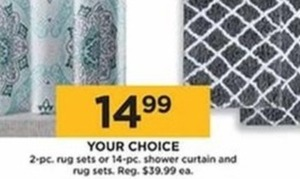 2-Piece Rug Set or 14-Piece Shower Curtain