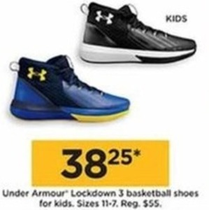 Under Armour Lockdown 3 Basketball Shoes For Kids