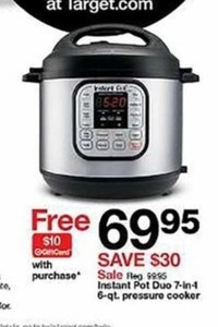 Instant Pot Duo 7-in-1 6-qt. Pressure Cooker + $10 Gift Card