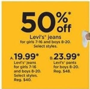Boys' Levi's Jeans Select Styles