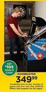 Arcade1UP Retro Arcade with $105 Kohl's Cash