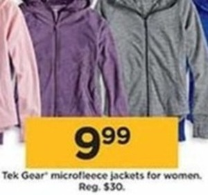 Tek Gear Microfleece Jackets for Women