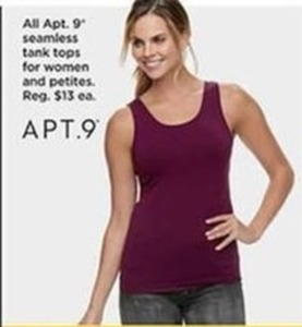 Apt. 9 Seamless Tank Tops for Women and Petites