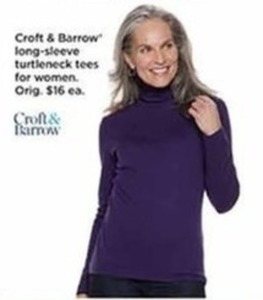 Croft & Barrow Long Sleeve Tunic Tees