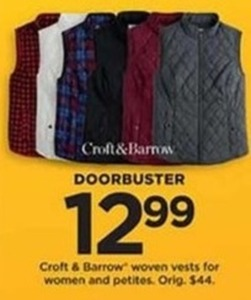 Croft and Barrow Woven Vests for Women and Petities