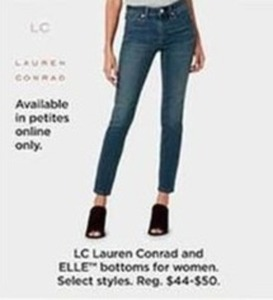 LC Lauren Conrad Bottoms Select Styles, Petite Only