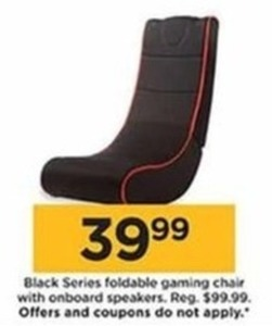 Black Series Foldable Gaming Chair with Onboard Speakers - Kohls Cash