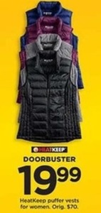 HeatKeep Puffer Vests for Women