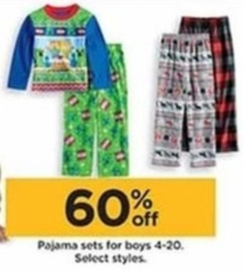 Select Pajama Sets for Boys