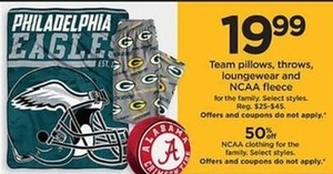 Philadelphia Eagles NCAA Clothing  - Kohls Cash