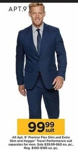 Men's Apt 9 Premier Flex Slim and Extra Slim Haggar Travel Performance Suit Separates