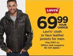 Levi's Cloth or Faux Leather Jackets for Men