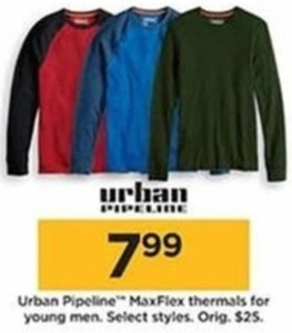 Urban Pipeline MaxFlex Thermals for Young Men