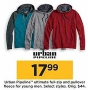 Urban Pipeline Ultimate Full-Zip and Pullover Fleece for Young Men