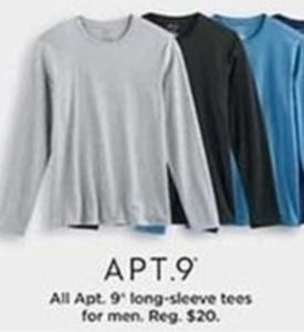Men's Apt. 9 Long Sleeve Tees