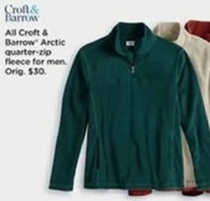 All Croft and Barrow Arctic Quarter-Zip Fleece for Men