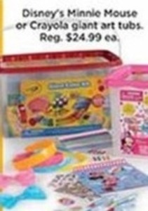 Disney's Minnie Mouse or Crayola Giant Art Tubs