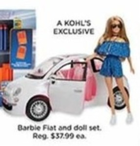 Barbie Fiat & Doll Set