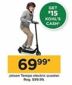 Jetson Tempo Electric Scooter + $15 Kohl's Cash