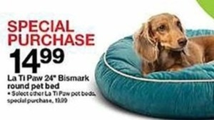 "La Ti Paw 24"" Bismark Round Pet Bed - Special Purchase"