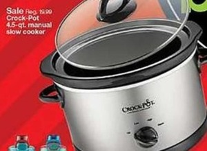 Crock Pot 4.5-Qt Manual Slower Cooker