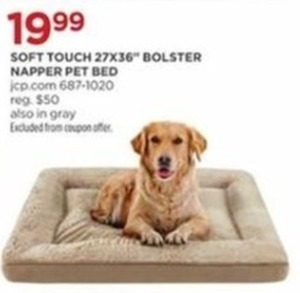 Soft Touch 27 X36 Bolster Napper Pet Bed