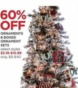 Ornaments and Boxed Ornament Sets