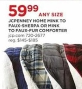 Any Size Home Mink to Faux-Sherpa or Mink to Faux-Fur Comforter
