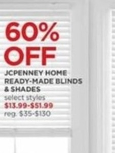 JCPenney Home Ready-Made Blinds & Shades