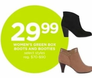 Women's Green Box Boots And Booties