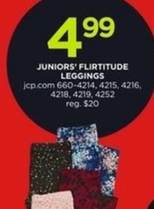 Juniors' Flirtitude Leggings