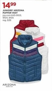 Juniors' Arizona Puffer Vest