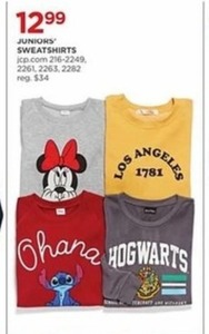 Juniors' Sweatshirts