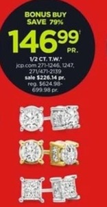 1/2 Ct. T.W. Earrings