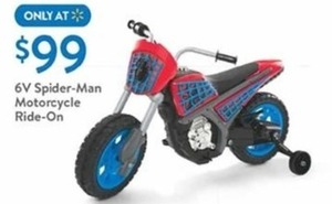 6V Spider Man Motorcycle Ride On