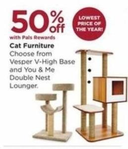 Vesper V-High Base and You & Me Double Nest Lounger Cat Furniture