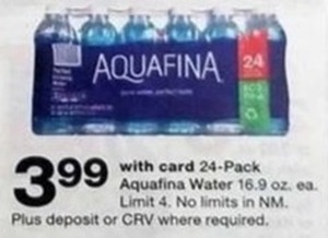 Aquafina Water 24-Pack 16.9 oz. - With Card