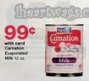 Carnation Evaporated Milk 12 oz. - With Card