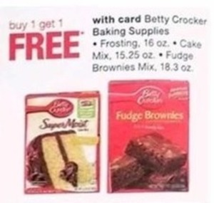 Betty Crocker Select Baking Supplies - With Card