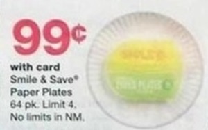 Smile & Save Paper Plates 64 pk. - With Card