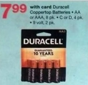 Duracell Battery w/Card