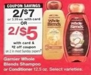 Garnier Whole Blends Shampoo or Conditioner w/Card + $2 Off Coupon