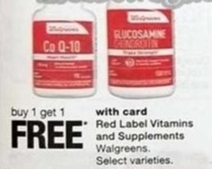 Red Label Vitamins and Supplements w/Card